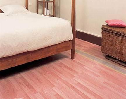 蜡粉色地板