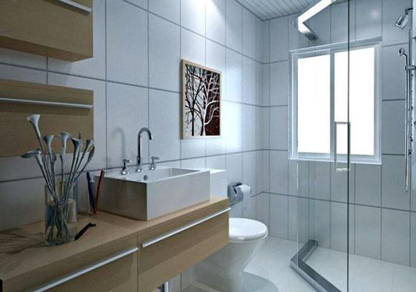 卫生间装修效果图小户型整体卫浴 怎么做干湿分离呢-