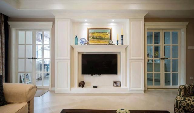 143㎡美式风格客厅装饰