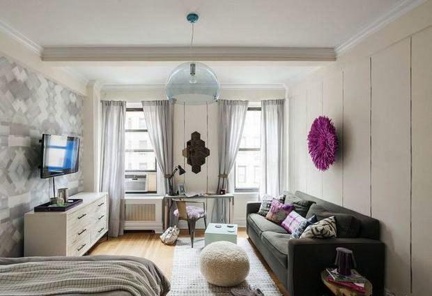 40平米单身公寓客厅装修设计