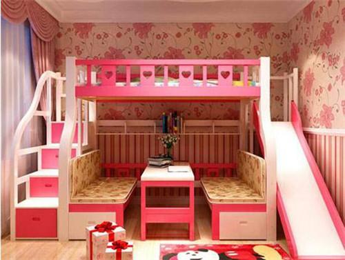 儿童床带滑梯