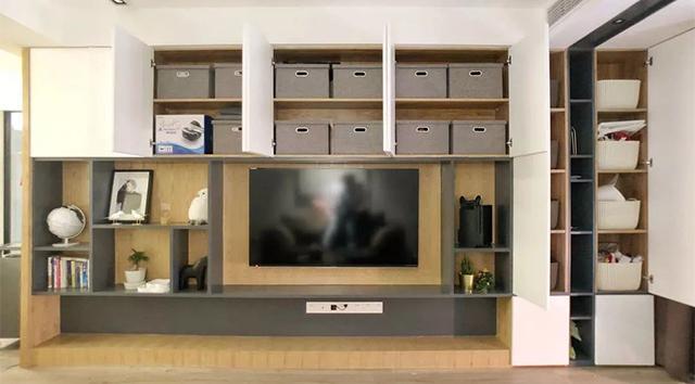 收纳型电视墙