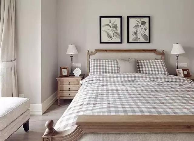 复古小清新卧室装修效果图