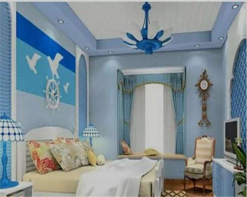 青岛地中海风格卧室装修效果图