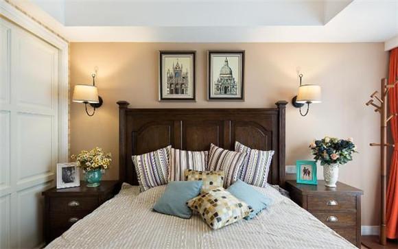 102㎡新房装修样板间卧室