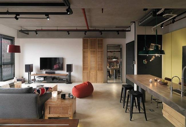 loft装修风格效果图
