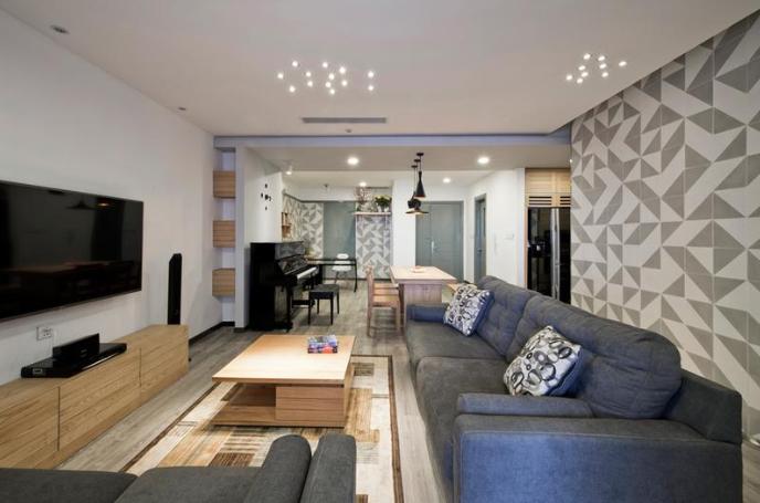 88平米loft公寓客厅装修效果图