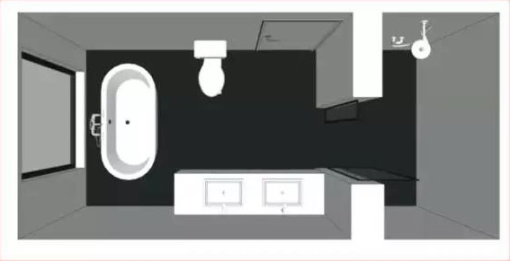 卫生间功能分区