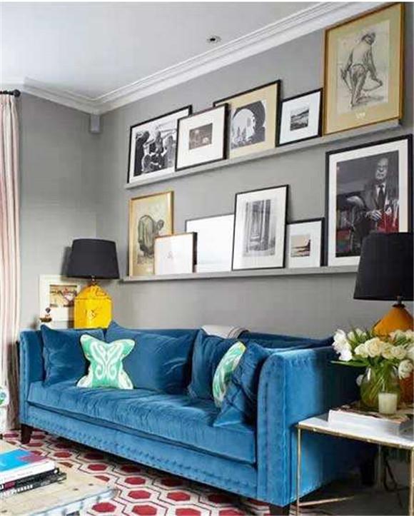 沙发背景墙照片墙装修形式