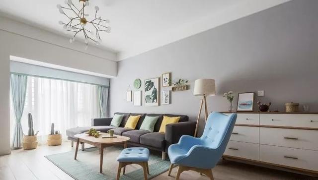 90㎡小户型北欧风格客厅装饰