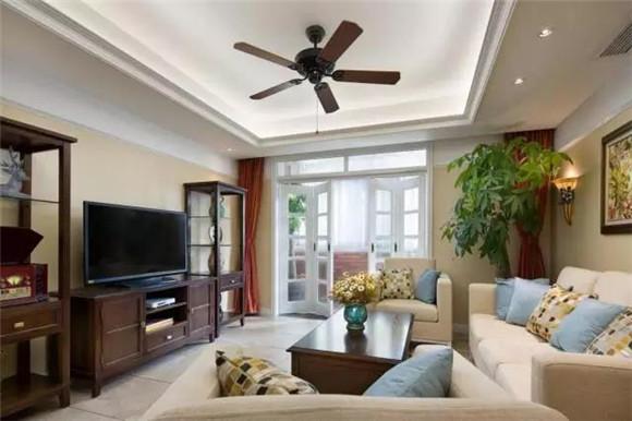 112平米美式客厅装修案例