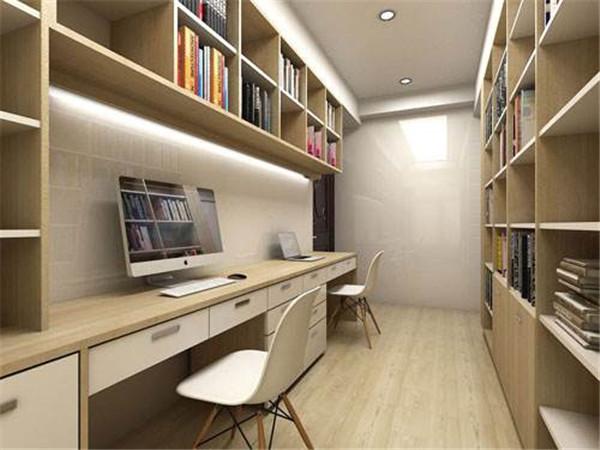 狭长型多功能书房装修