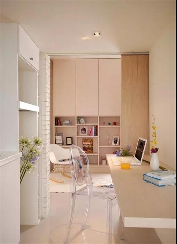 40㎡单身公寓书房装修效果图