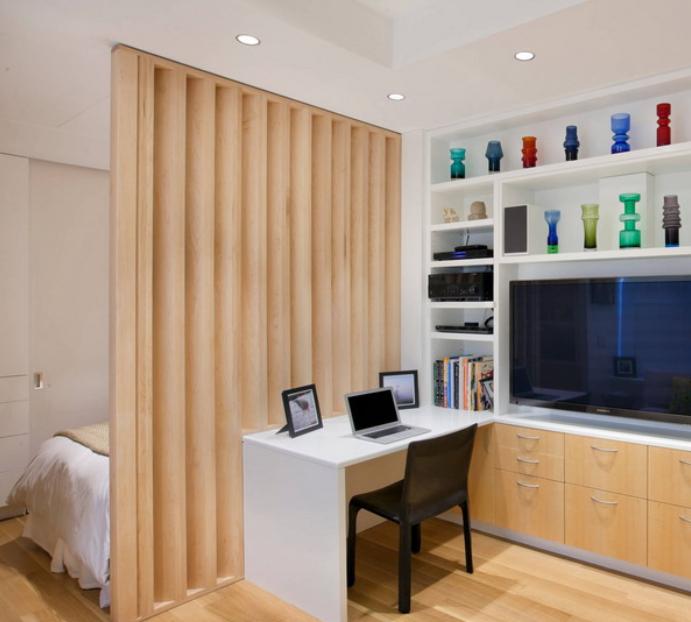 单身公寓客厅区域装修设计