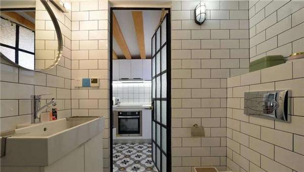 小白砖卫生间装修效果图