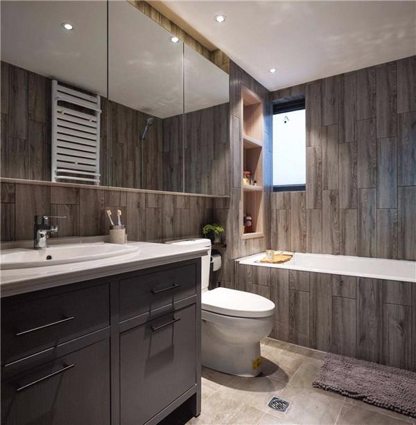 高雅灰色砖卫生间效果图