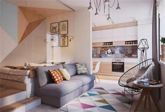 55平小户型客厅装修