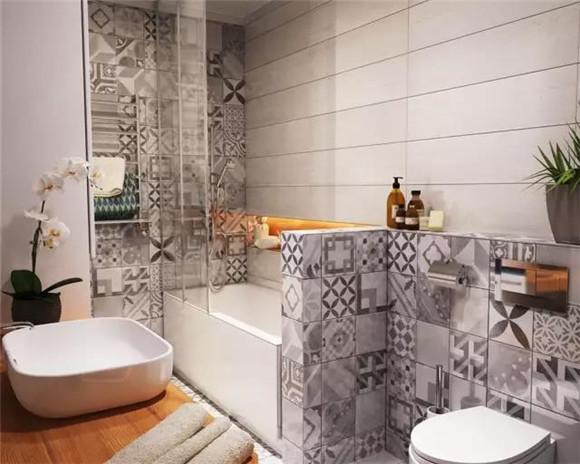 55平小户型卫生间浴缸装修