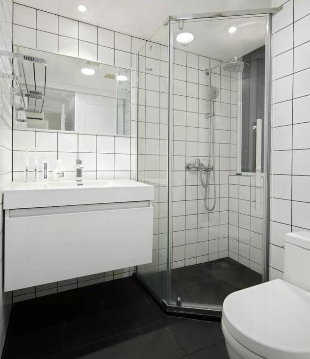 90㎡现代简约卫生间装修