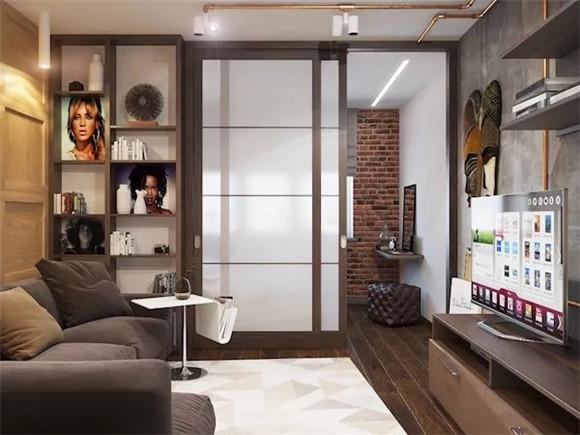 48㎡单身公寓装修效果图