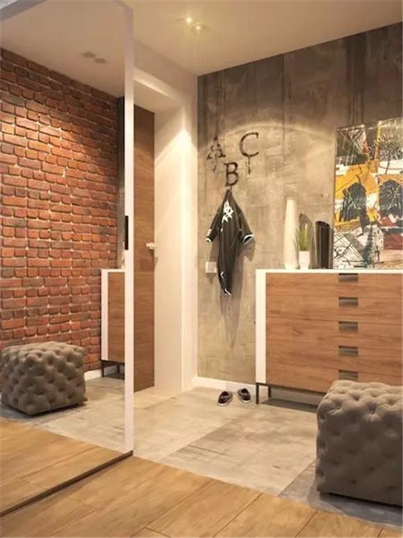 48㎡单身公寓玄关装修
