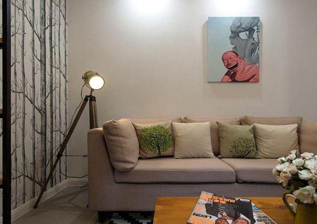 50平小户型沙发墙装饰