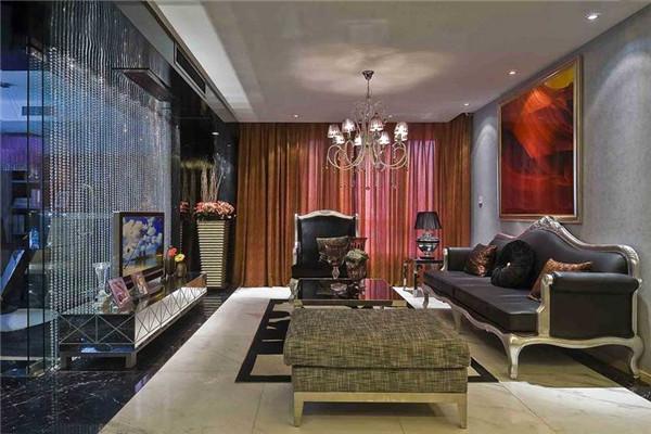 炫酷现代质感的客厅