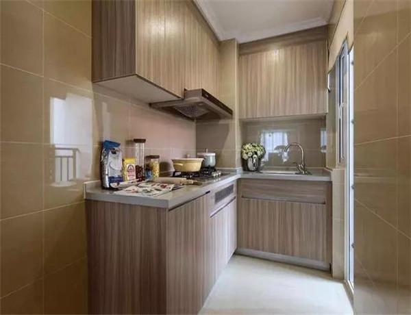 92平米小户型简约风餐厅装修边上的小厨房