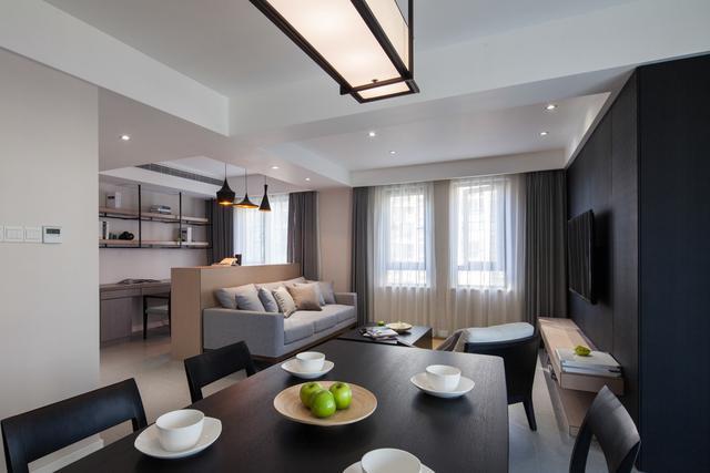 80平的房子极简装修丰富打造出一室一厅