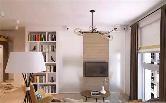 65平小户型客厅电视墙装修