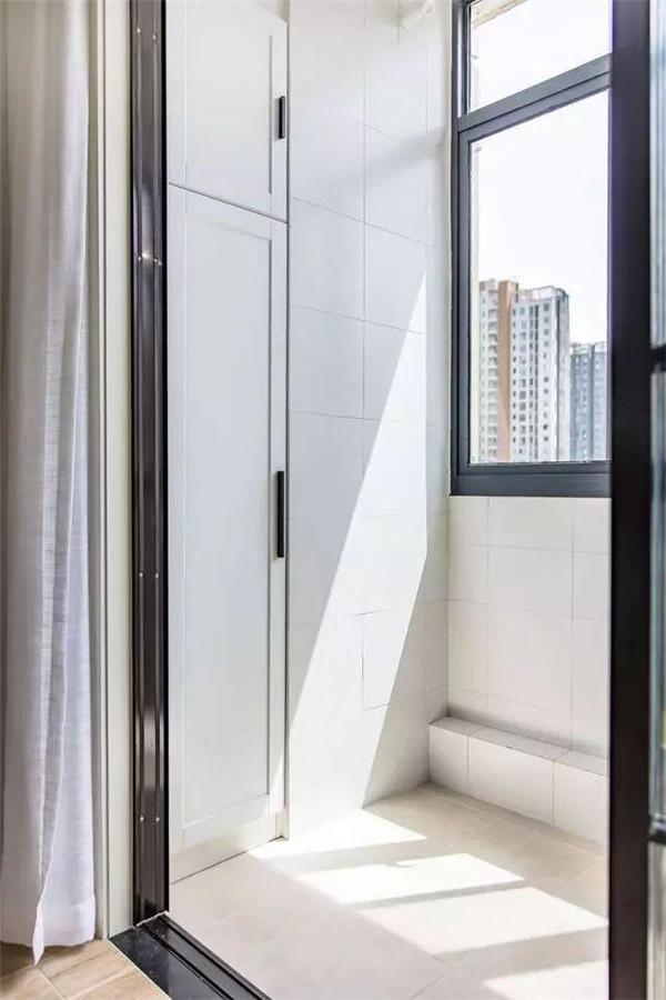 80平米两室一厅北欧风房屋装修阳台