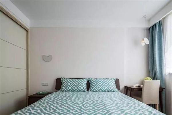 80平米两室一厅北欧风房屋装修主卧地板