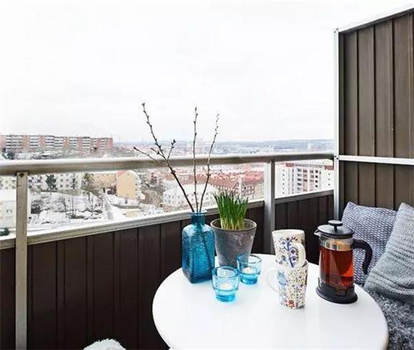 40平米单身公寓阳台装修