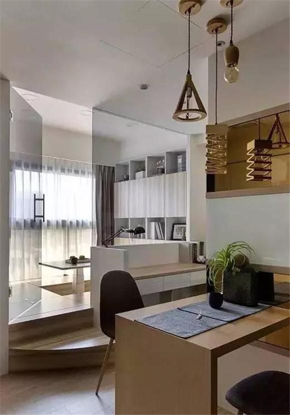 33平米小户型现代简约书房装修