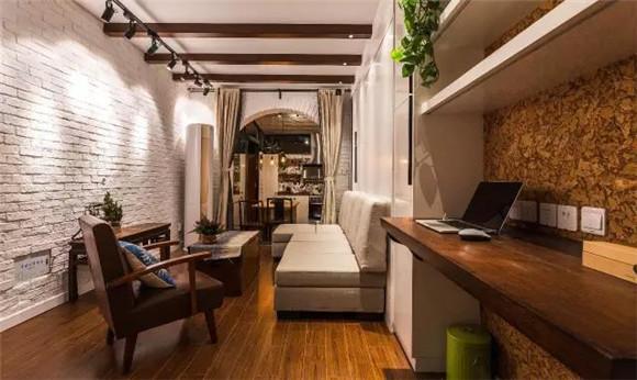 56平旧房改造客厅与卧室效果图