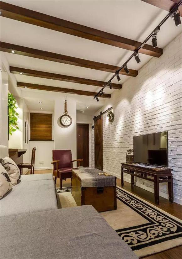 56平旧房改造客厅装修效果图