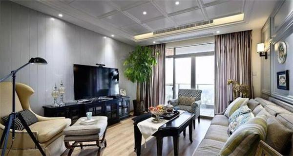 135平三室两厅美式装修样板间