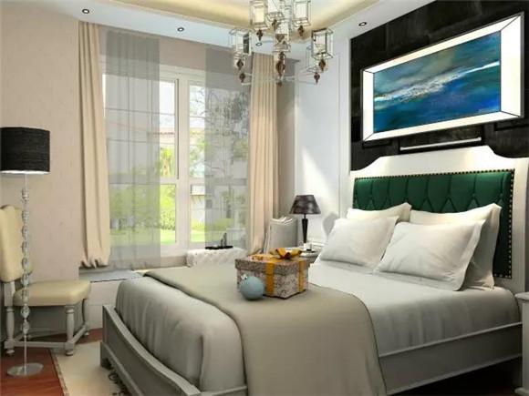 119平三室两厅现代美式次卧装修
