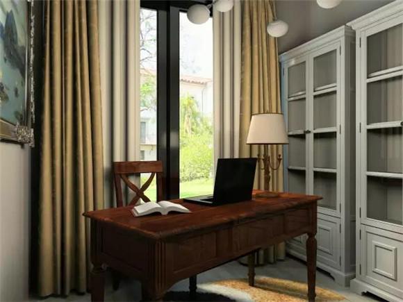 119平三室两厅现代美式书房装修