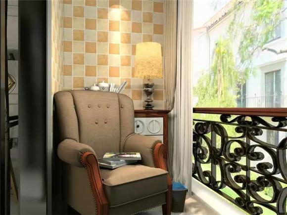 119平三室两厅现代美式阳台装修