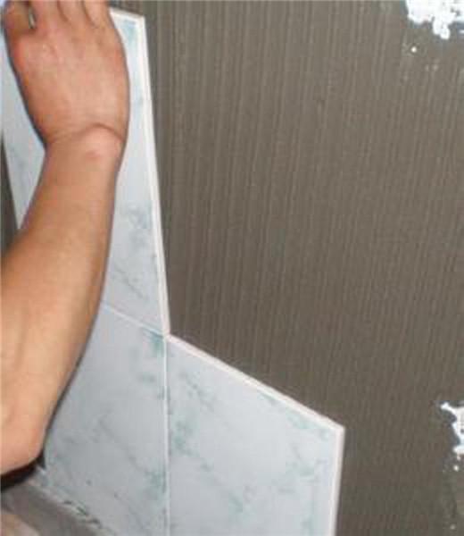 瓷砖胶贴瓷砖方法
