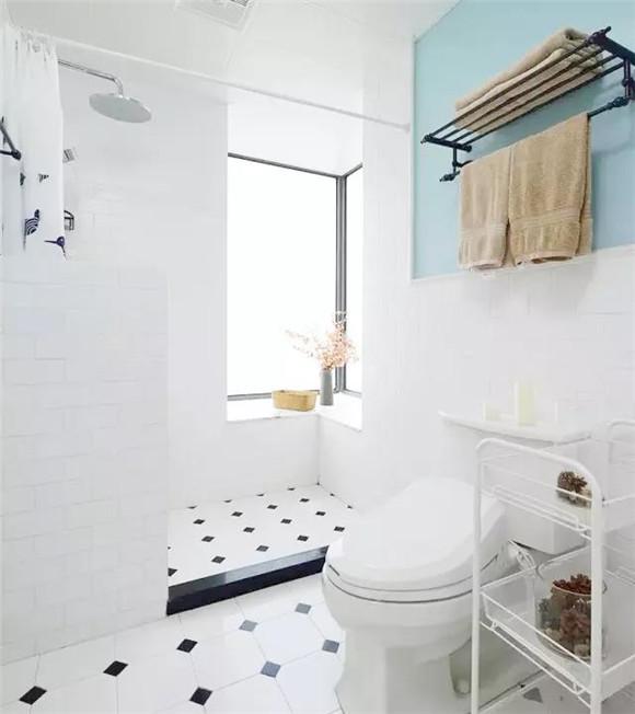 95平米三室一厅卫浴间装修效果图