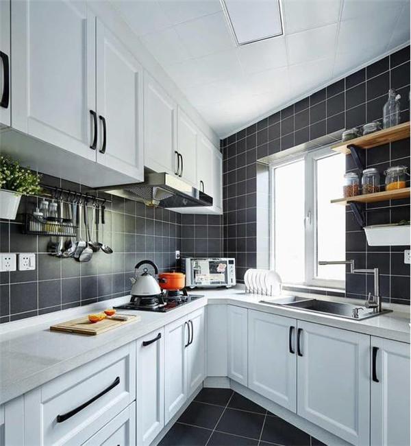不规则厨房装修效果图
