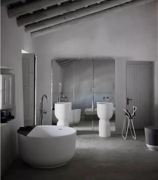 卫生间圆形浴缸效果图2