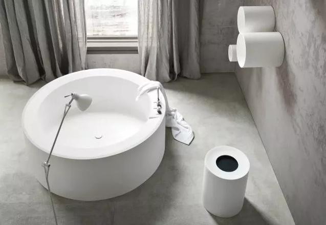 卫生间圆形浴缸效果图3