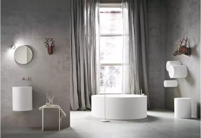 卫生间圆形浴缸效果图4