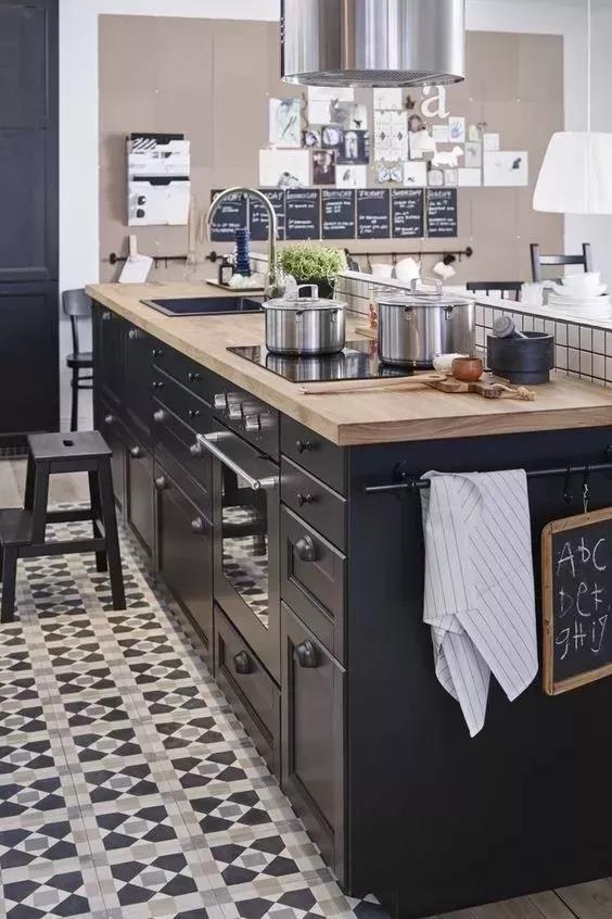 厨房中岛装修效果图