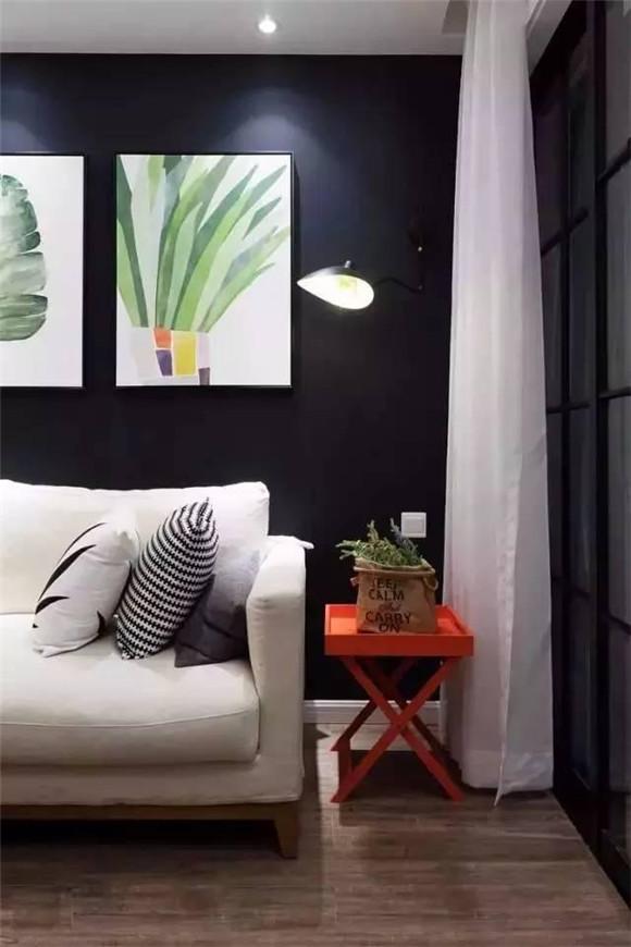 89平米现代北欧风客厅沙发