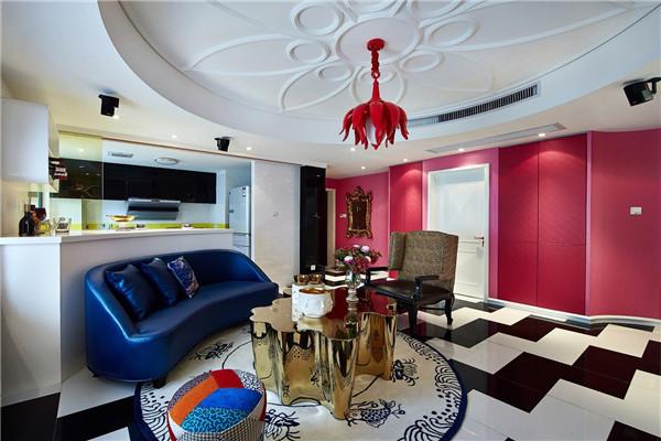 107平2居室简约风格家装效果图