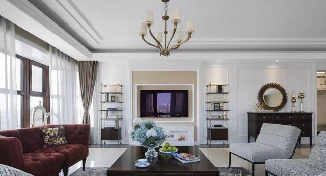 145㎡新美式客厅装修